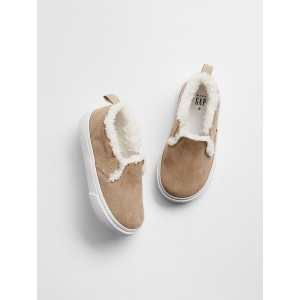Cozy Sherpa Slip-On Sneakers