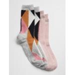 Pattern Crew Socks (2-Pack)