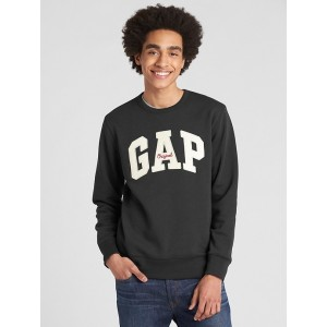 Logo Fleece Crewneck Pullover Sweatshirt