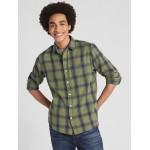 Standard Fit Shirt in Slub Cotton Twill