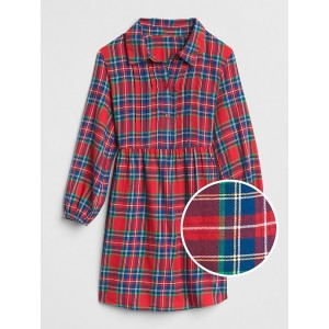 Plaid Cinched-Waist Shirtdress