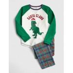 Dino Flannel PJ Set
