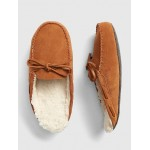 Suede Moccasin Slide Slippers