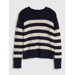 Stripe Textured-Knit Sweater