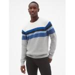 Crazy Stripe Colorblock Pullover Sweater