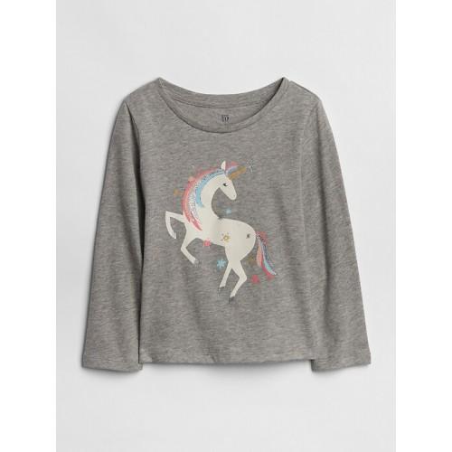 갭 Graphic Long Sleeve T-Shirt