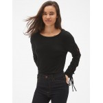 Softspun Lace-Up Long Sleeve Top