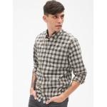 Pattern Poplin Shirt in Stretch