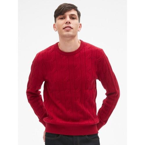 갭 Wool Cable-Knit Pullover Sweater