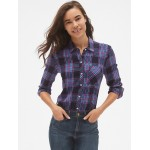 Drapey Plaid Flannel Pocket Shirt
