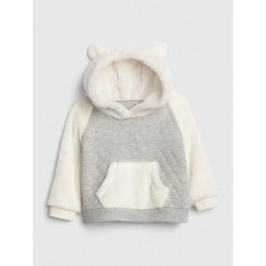 Sherpa Quilted Hoodie Sweatshirt