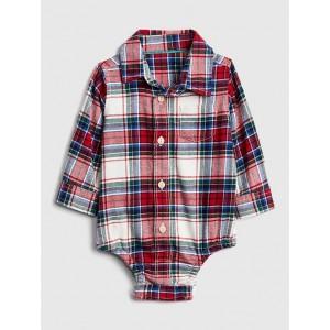 Flannel Long Sleeve Bodysuit