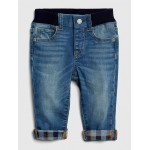 Flannel-Lined Slim Jeans