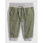Mix-Fabric Pull-On Pants