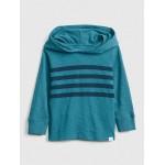 Chest-Stripe Hoodie Sweatshirt