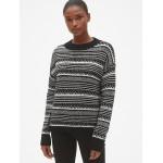 Fair Isle Crewneck Pullover Sweater