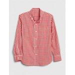 Gingham Shirt in Poplin
