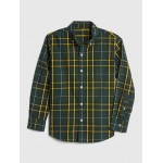Plaid Shirt in Poplin