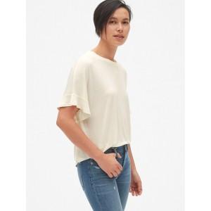 Drapey Flutter Sleeve T-Shirt