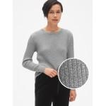 True Soft Metallic Ribbed Pullover Sweater
