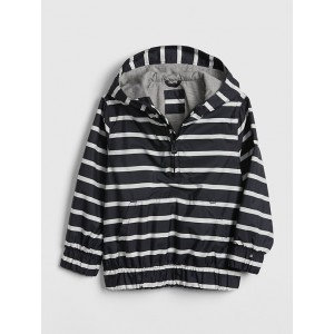 Stripe Jersey-Lined Anorak Jacket
