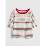 Print Elbow-Length Boxy T-Shirt
