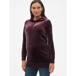 Maternity Velvet Pullover Hoodie