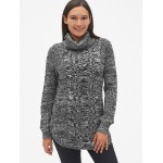 Maternity Cable-Knit Turtleneck Pullover Sweater