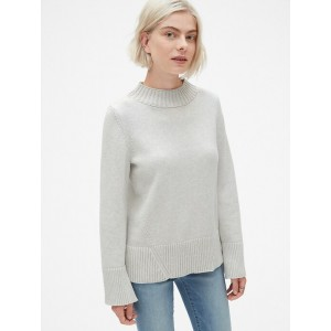 Ribbed Mockneck Pullover Sweater