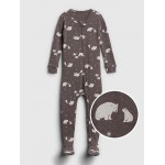 Organic Cotton Bear Footed PJ One-Piece
