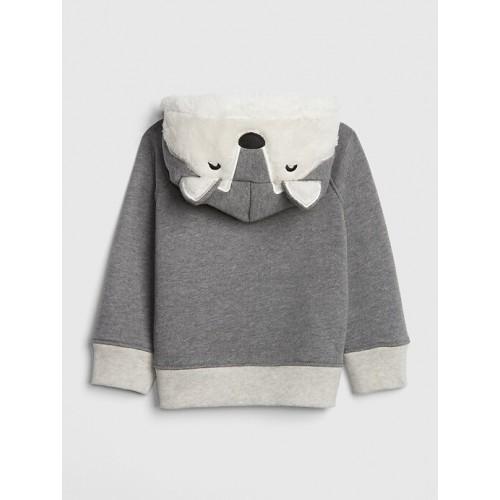 갭 Sherpa Critter Hoodie Sweatshirt