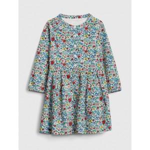 Floral Button-Front Dress