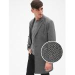Wool-Blend Herringbone Top Coat