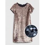 Flippy Sequin Short Sleeve Dress