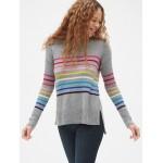 Crazy Stripe Crewneck Pullover Sweater Tunic