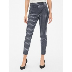Stripe Skinny Ankle Pants with Secret Smoothing Pockets