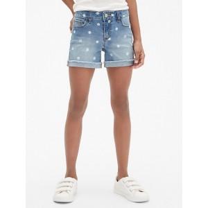 Superdenim Dot Midi Shorts with Fantastiflex