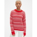 Fair Isle Crewneck Pullover Sweater