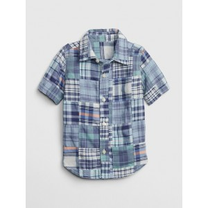 Patchwork Short Sleeve Shirt