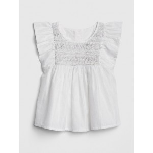 Smocked Flutter Top