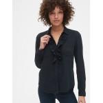 Ruffle-Trim Pocket Shirt in TENCEL&#153