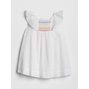 Rainbow Smocked Flutter Dress