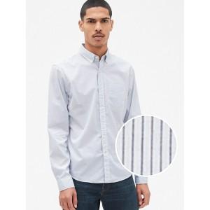 Untucked Poplin Shirt with Stretch