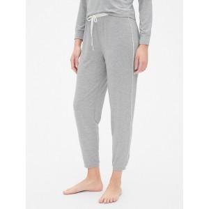 Metallic Speckled Side-Stripe Pants in Modal