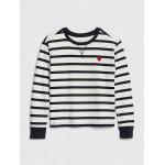 Stripe Heart Sweatshirt