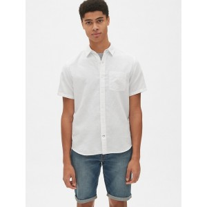 Short Sleeve Shirt in Linen-Cotton