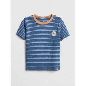 Stripe Graphic Short Sleeve T-Shirt