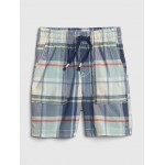 Print Pull-On Shorts in Twill