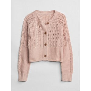 Kids Mix-Stitch Cardigan Sweater