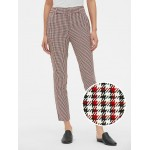 Plaid Skinny Ankle Pants with Secret Smoothing Pockets